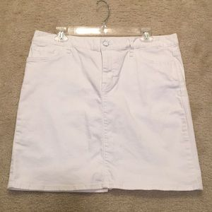 Tommy Hilfiger white jean skirt